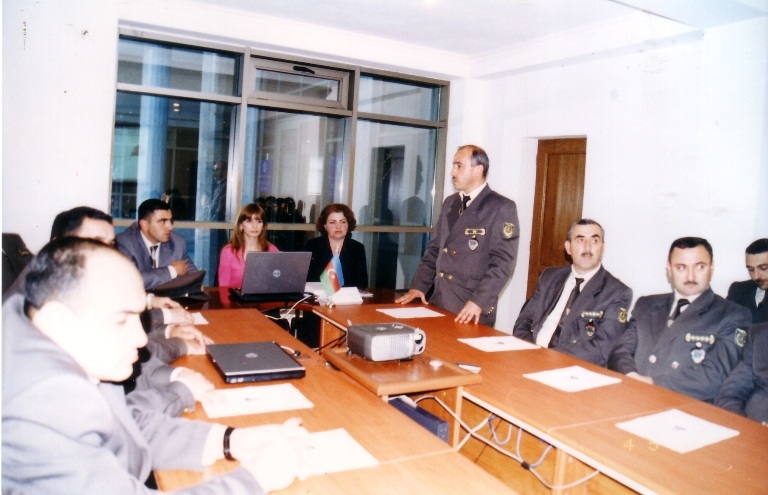 Meeting with employees of Qabala region Territorial Tax Department №10. May 4, 2007