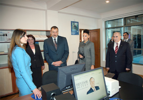President of Azerbaijan Ilham Aliyev visited Gabala region. March 2,2007